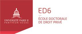 Logo Ecole doctorale de droit privé - ED6