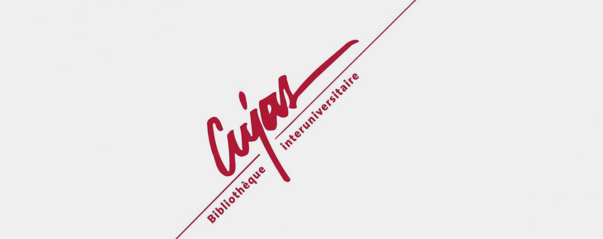 Visuel avec le logo de l'institut Cujas, bibliothèque universitaire